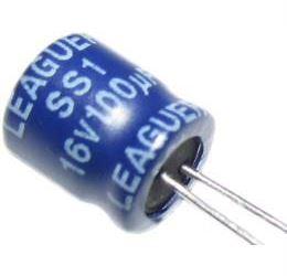 100u/16V 105° 6,3x7x2,5mm, elektrolyt.kondenzátor radiální
