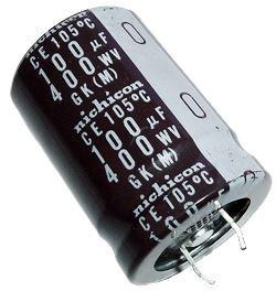 100u/400V 105° 22x32x10mm, SNAP-IN elektrolyt.kondenzátor radiální