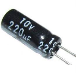 220u/10V 85° 5x11x2mm, elektrolyt.kondenzátor radiální