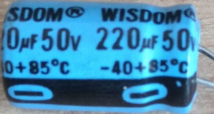220u/50V 85° 10x17x5mm, elektrolyt.kondenzátor radiální