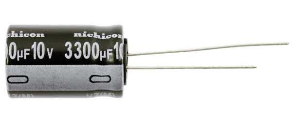 3300u/10V 105° 13x21x5mm, elektrolyt.kondenzátor radiální