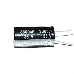 3300u/25V 105°C 16x26x10mm, elektrolyt.kondenzátor radiální