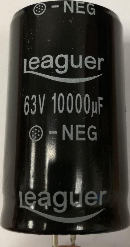 10000u/63V 105° 30x50x10mm, elektrolyt.kondenzátor radiální