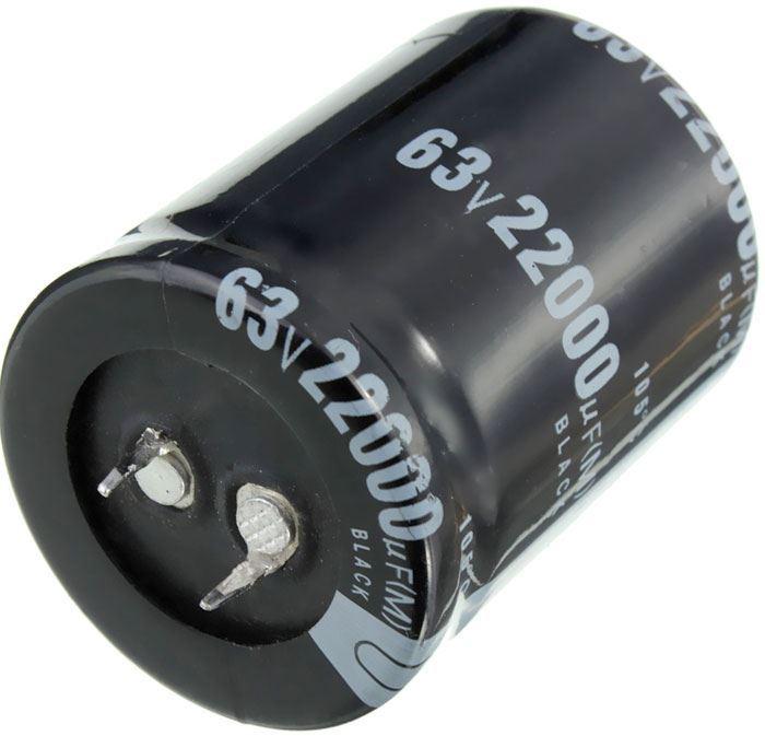 22000u/63V 105° , elektrolyt.kondenzátor radiální, Snap-in