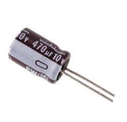 470u/10V 105° 8x12x2,5mm, elektrolyt.kondenzátor radiální