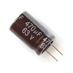 470u/63V 105° 13x21x5mm, elektrolyt.kondenzátor radiální