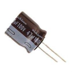 47u/100V 105° 10x16x5mm, elektrolyt.kondenzátor radiální