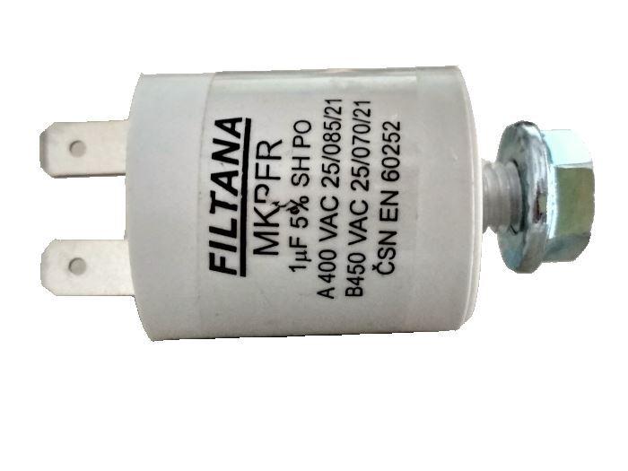 1uF/450V motorový kondenzátor MKPFR s fastony, 30x25mm