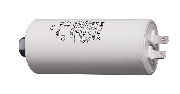 18uF/450V motorový kondenzátor 45x88mm