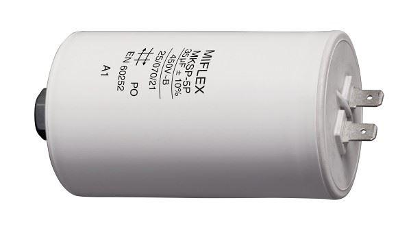 35uF/450V motorový kondenzátor MKSP-5P - fastony, 44x121mm