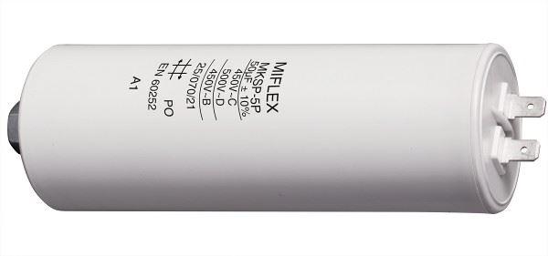 50uF/450V motorový kondenzátor MKSP-5P - fastony, 49x119mm