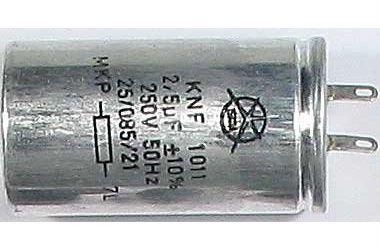 2,5uF/250V~ zářivkový kondenzátor KNF-1011