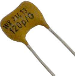 100pF/300V WK71413, slídový kondenzátor