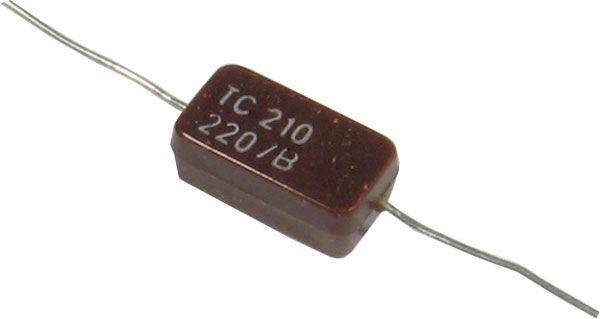 220pF/500V TC210, slídový kondenzátor