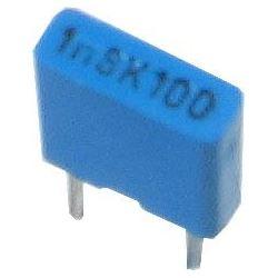 1n8/100V TC351, svitkový kondenzátor radiální, RM=5mm