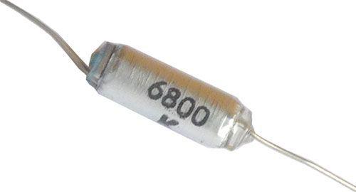 6n8/25V TGL5155, svitkový kondenzátor axiální