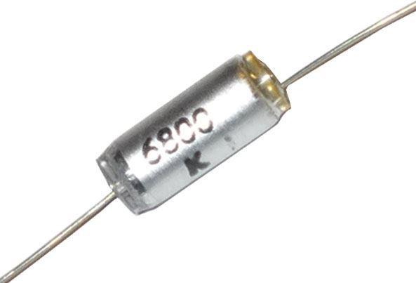 6n8/63V TGL5155, svitkový kondenzátor axiální