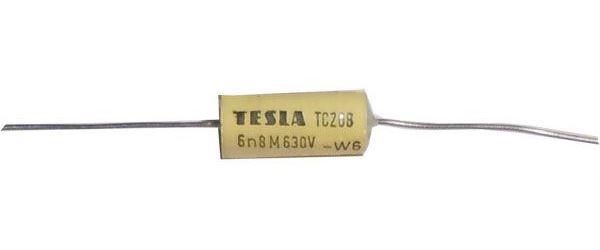 6n8/630V TC208 /TC218/, svitkový kondenzátor