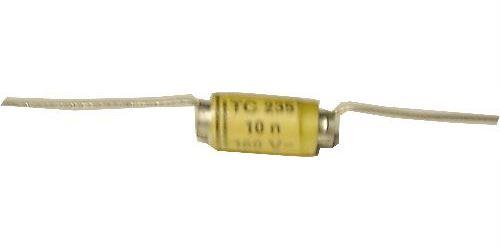 10n/160V TC235, svitkový kondenzátor axiální