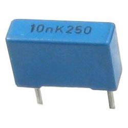 10n/250V TC354, svitkový kondenzátor radiální, RM=7,5mm