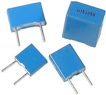 15n/400V TC355, svitkový kondenzátor radiální RM=7,5mm