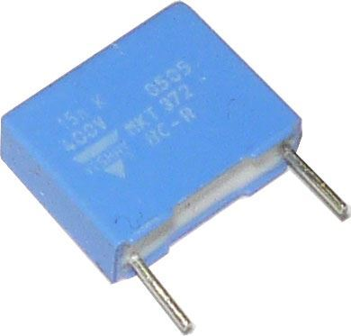 15n/400V MKT372, svitkový kondenzátor radiální RM=10mm