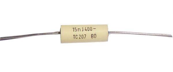 15n/400V TC207 /TC217/, svitkový kondenzátor axiální