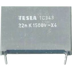 22n/1500V TC343, svitkový kondenzátor impulsní, RM=27mm