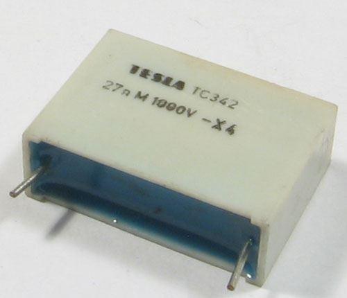 27n/1000V TC342, svitkový kondenzátor impulsní