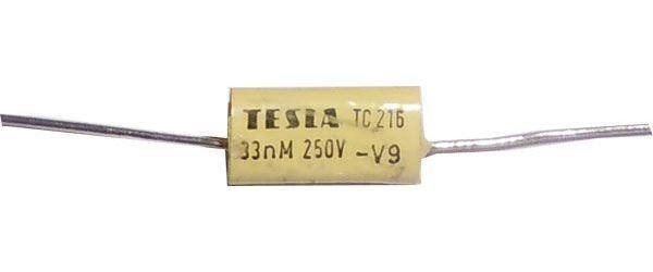 33n/250V TC206 /TC216/, svitkový kondenzátor axiální