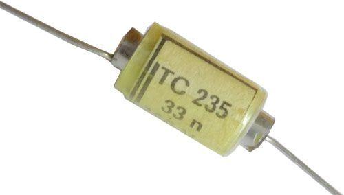 33n/160V TC235, svitkový kondenzátor axiální