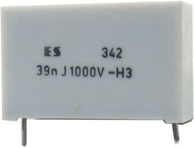 39n/1000V TC342, svitkový kondenzátor impulsní