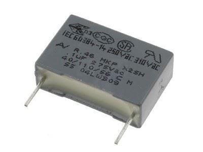 47n/275VAC MKT, foliový kondenzátor radiální, RM15