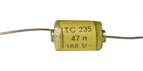 47n/160V TC235, svitkový kondenzátor axiální