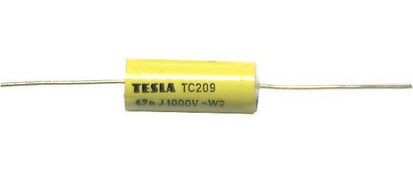 47n/1000V TC209, svitkový kondenzátor axiální