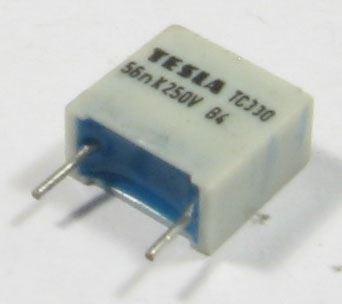 56n/250V TC330, svitkový kondenzátor radiální, RM=10mm