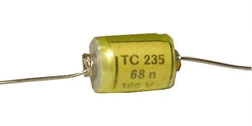68n/160V TC235, svitkový kondenzátor axiální