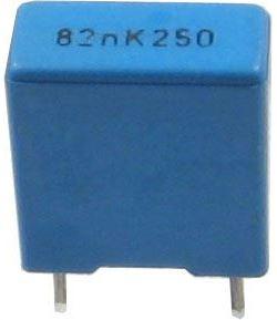 82n/250V TC354, svitkový kondenzátor radiální