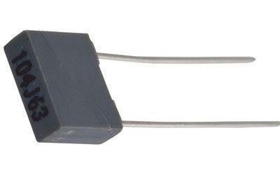100n/63V CF1 /~TC350/, svitkový kondenzátor radiální RM5