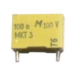 100n/100V MKT 12x4x7mm, svitkový kondenzátor radiální
