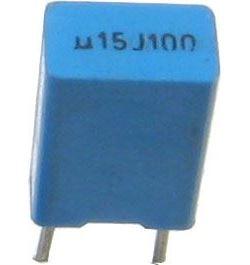 150n/100V TC351, svitkový kondenzátor radiální RM=5mm