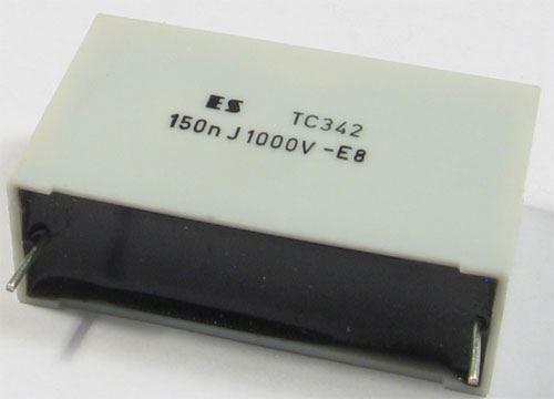 150n/1000V TC342, svitkový kondenzátor impulsní, RM=38mm