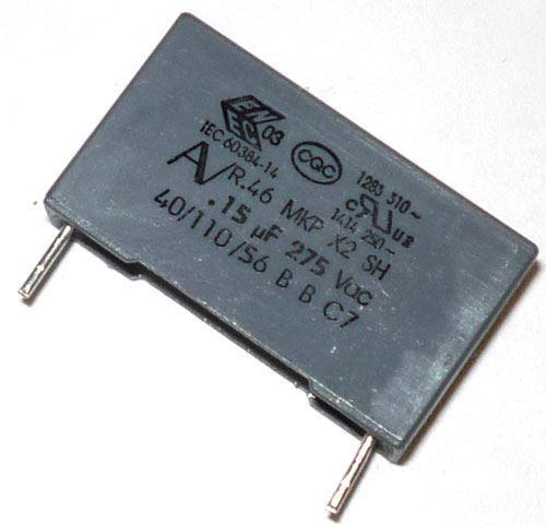 150n/275V CFAC, svitkový kondenzátor X2