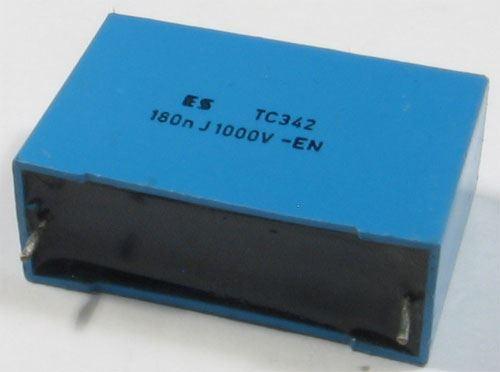 180n/1000V TC342, svitkový kondenzátor impulsní