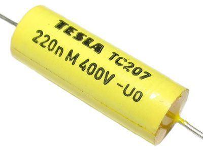 220N/400V TC207 /TC217/, svitkový kondenzátor axiální