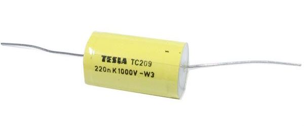 220N/1000V TC209, svitkový kondenzátor 19x30mm