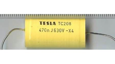 470n/630V TC208, svitkový kondenzátor