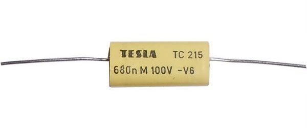 680n/100V TC205 /TC215/, svitkový kondenzátor axiální