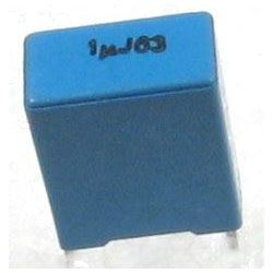 1u/63V TC352, svitkový kondenzátor radiální, RM=7,5mm