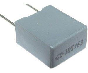 1u/63V CF3, svitkový kondenzátor radiální RM7,5